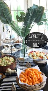 1st Birthday Party Decorations Homemade Safari Style Soiree Source List 2 Free Party Printables Diy