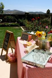 Backyard Baby Shower Ideas Backyard Baby Q Galvanized Trays And Chalkboards For An Outdoor