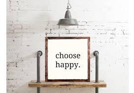 amazon com choose happy wood sign home decor rustic distressed