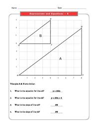 8 common core math worksheets expressions and equations 8 ee 6