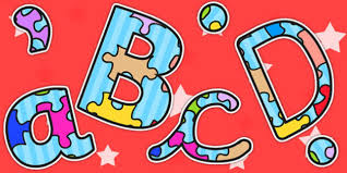 themed letters puzzle a4 themed display lettering puzzles letters