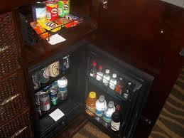 mini fridge in bedroom nightstand luxury bedding king size frame with drawers headboards