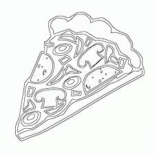 kids pizza coloring pages of food foods coloring pages of