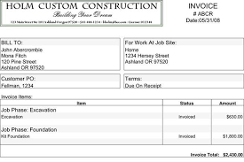 construction invoice 7 plumbing invoice examples samples