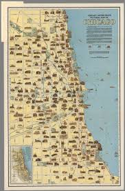 Maps Of Chicago by Chicago Motor Coach Pictorial Map Of Chicago David Rumsey