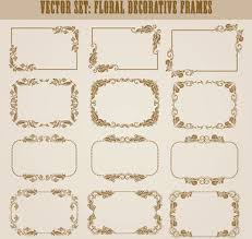 Decorative frame vector free vector 22 005 Free vector
