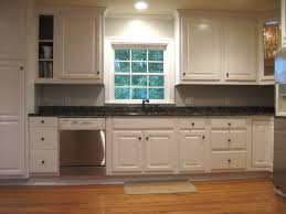 granite countertop white oak kitchen cabinet doors refrigerator