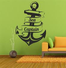 Home Decoration Wall Stickers Wall Decal Sticker Sailor Sea Captain Anchor Sticker Home