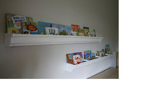 rain gutter bookshelves