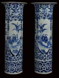 Chinese Vases Uk Antiques Atlas Pair Of Large Blue And White Chinese Vases