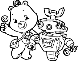 robot care bears adventures in care a lot coloring page
