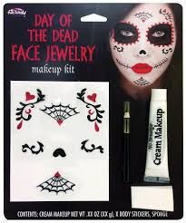 halloween body stickers day of the dead face jewellery halloween fancy dress costume party