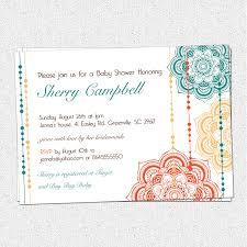 moroccan baby shower invitations floral elegant modern pick