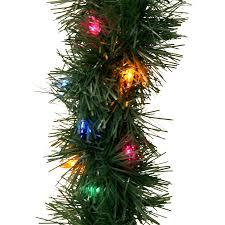improvements indoor outdoor lighted christmas garland diy shop pre lit indooroutdoor pine artificial lighted outdoor