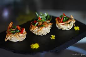 canape cups recipes noodle nests canapes recipe best home chef