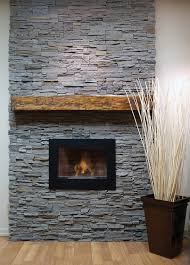 fireplace work adirondack style with river rock cultured stone and