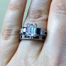kirk kara wedding band kirk kara blue sapphire baguette and diamond wedding band