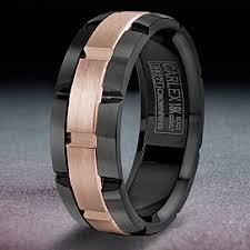 black gold mens wedding band carlex brushed gold and black cobalt wedding band wb