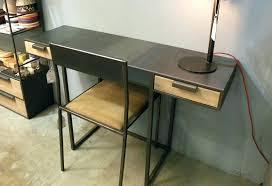 bureau industriel bois et metal bureau metal noir bureau industriel bois et metal wooden metal