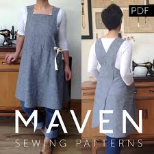 the maria wrap apron pdf sewing pattern japanese apron