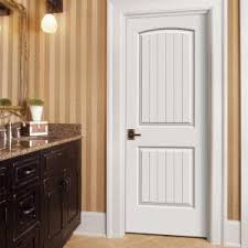 prehung interior doors home depot jeld wen smooth 2 panel arch top v groove solid core primed molded