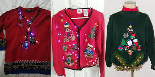 12 ugly funny u0026 tacky christmas lighted sweater vest patterns