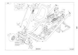 siege pour tondeuse autoport pièces détachées autoportée a80b wolf chassis direction v5