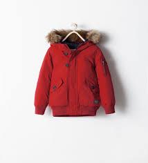 zara enfants doudoune courte rouge toddlers pinterest