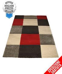 negozi tappeti moderni tappeto moderno 160 x 230 rosso grigio tortora picasso inciso