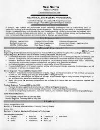 Sample Resume Of It Professional by Mechanical Engineering Resume Example
