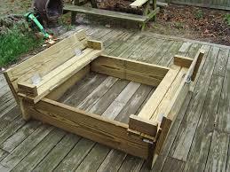 Backyard Sandbox Ideas Ana White Sandbox With Built In Seats Diy Projects