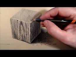 how to draw a wooden cube drawing cube step by step tutorial