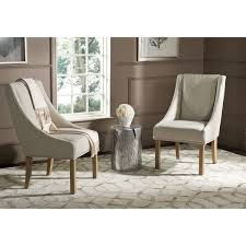 Safavieh Dining Chair Dining Room Traditional Sloped Arm Chairs With Sloping Chair