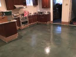 Laminate Flooring Garage Clear Polyurea On Concrete Kitchen Floor Garage Flooring Llc