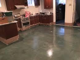 Laminate Flooring In Garage Clear Polyurea On Concrete Kitchen Floor Garage Flooring Llc