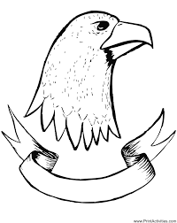 eagle coloring drawing eagle u0027s head