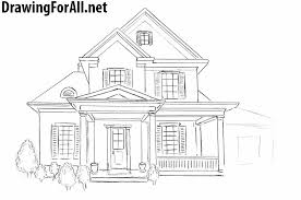 house drawings how to draw a house for beginners drawingforall net