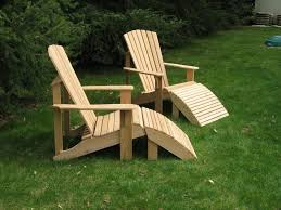 Adirondack Chair With Ottoman How To Make An Adirondack Chair Ottoman Plans Free