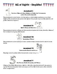 Bill Of Rights Worksheet Answers Here S A Bill Of Rights Chart That Covers The Ten Amendments