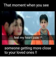 Chest Pain Meme - that moment when you see ando feel my heart pain aa someone