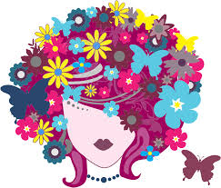 butterfly hair clipart floral butterfly hair woman