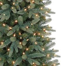 7 ft pre lit bristol pine green pencil artificial christmas tree