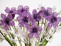 cool and handcrafted design for home decoration beaded flowers by