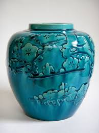 vintage japanese pottery vase with relief design collectors weekly
