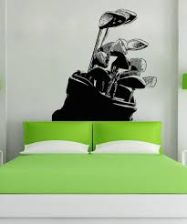 sports wall stickers sports decals for walls stickerbrand vinyl wall decal sticker golf clubs 5103