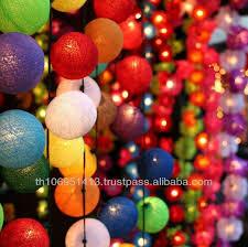 cotton balls string lights decoration handmade l happy