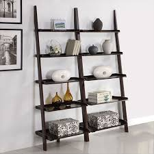 coaster 4 drawer ladder style bookcase leaning bookshelf maybe for printer etc studio ideas throughout