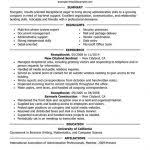 Resume Templates For Receptionist Position Resume Template For Receptionist Best Receptionist Resume Example