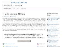 22 hitachi camera manual