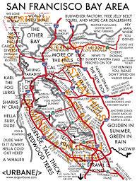 Sf Bay Map San Francisco Bay Area Culture Map U2013 Urbane Map Store